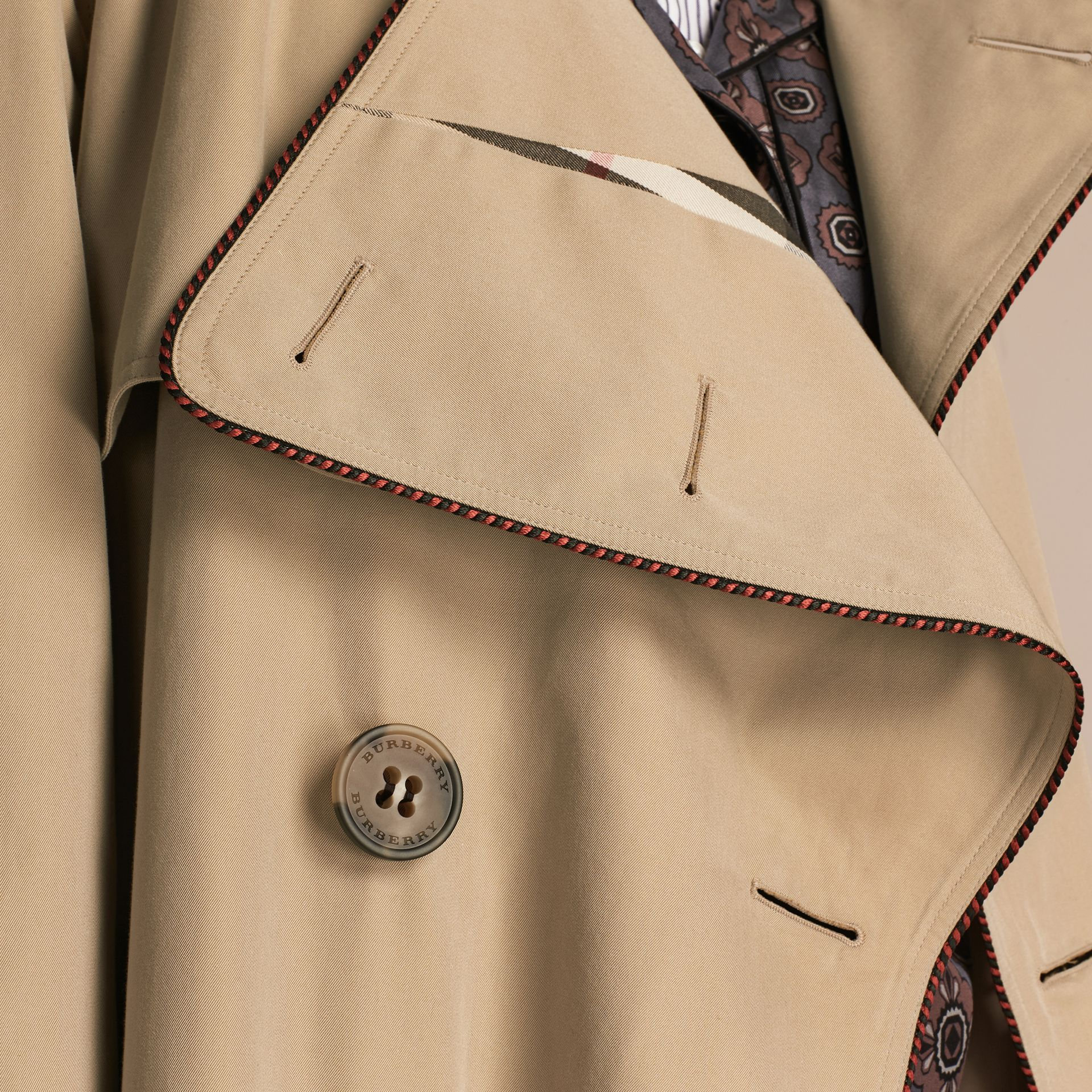 Honey Deconstructed Trench Coat with Regimental Piping - gallery image 5