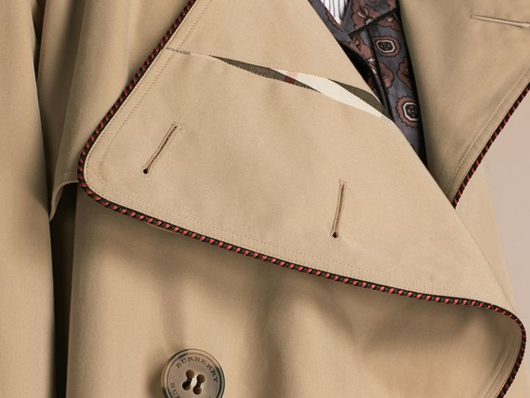 Trench coat destrutturato con profili in stile militare - Donna | Burberry - cell image 4