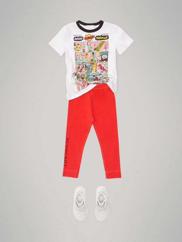 Thomas Bear Comic Print Cotton T-shirt in White | Burberry Australia - cell image 2