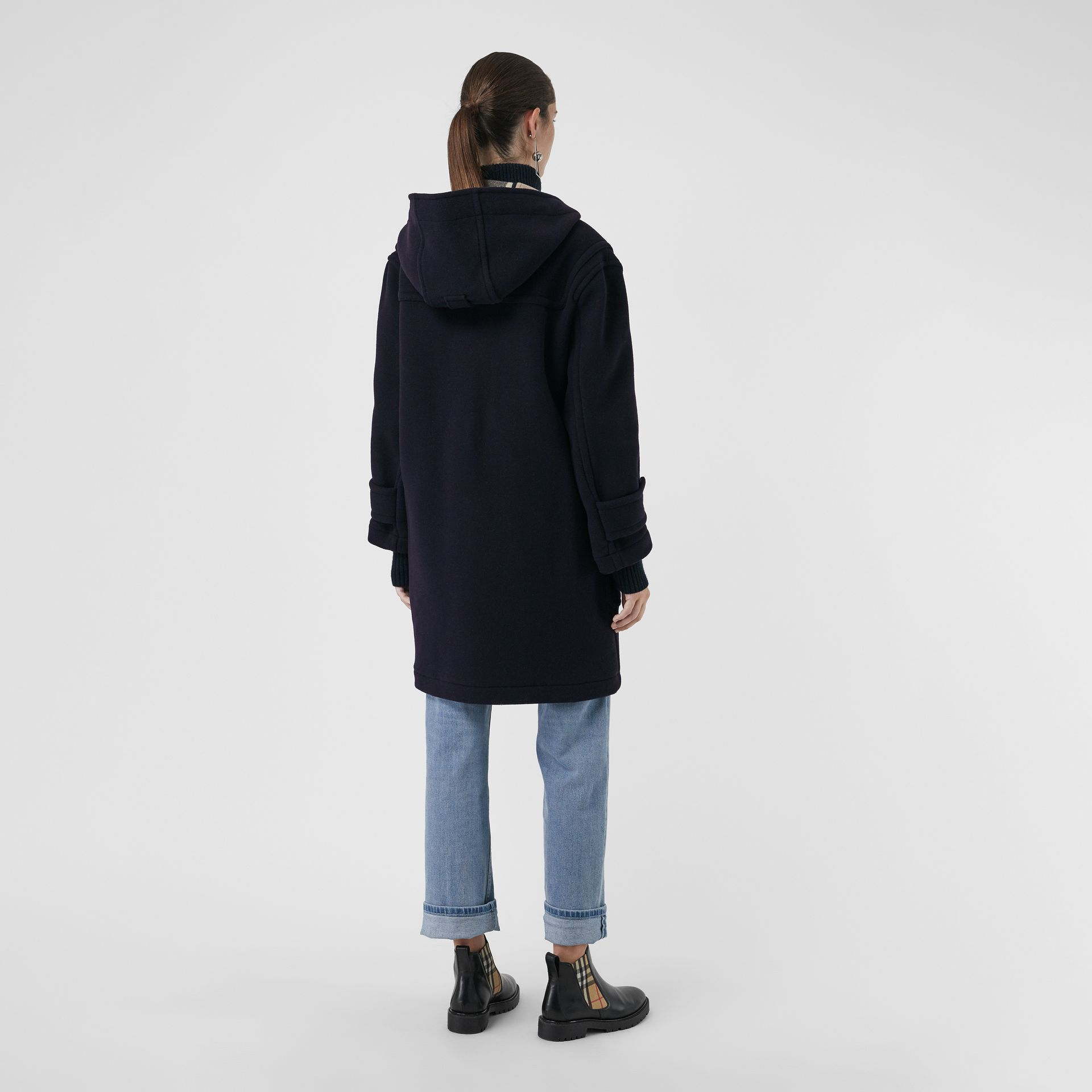 The Greenwich Duffle Coat in Navy - Women | Burberry Australia - gallery image 2