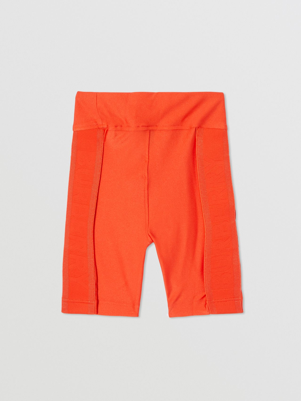 Coordinates Print Stretch Jersey Cycling Shorts in Orange Red
