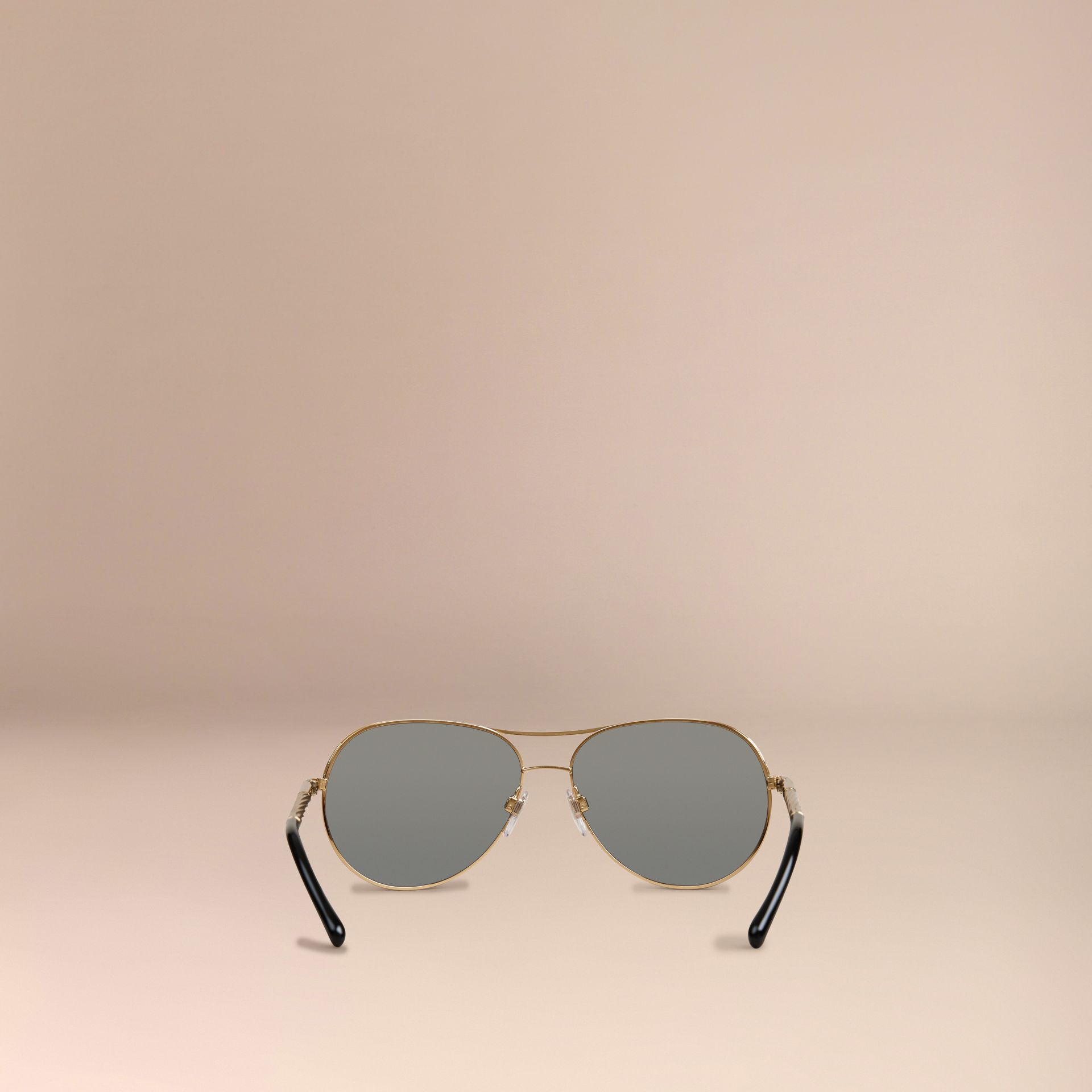 Gold Gabardine Collection Aviator Sunglasses Gold - gallery image 4
