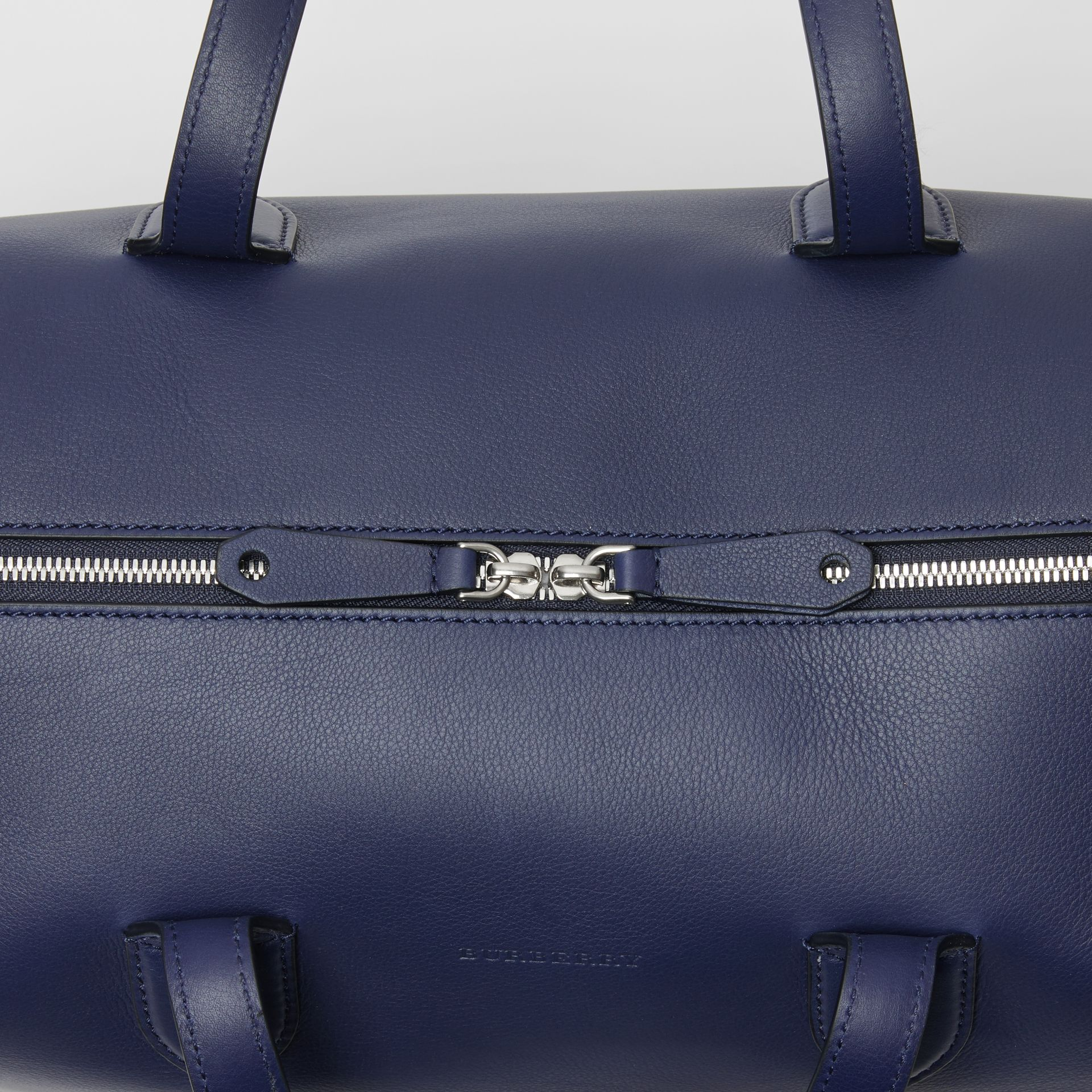 Soft Leather Holdall in Regency Blue - Men | Burberry United Kingdom - gallery image 1