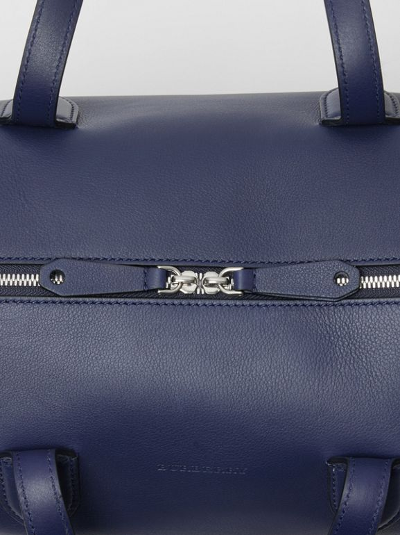 Soft Leather Holdall in Regency Blue - Men | Burberry - cell image 1