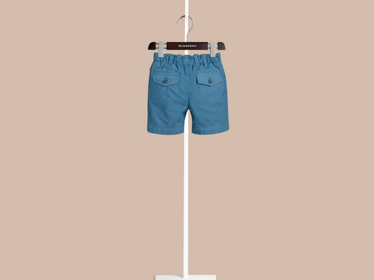 Lupin blue Cotton Military Chino Shorts Lupin Blue - cell image 1