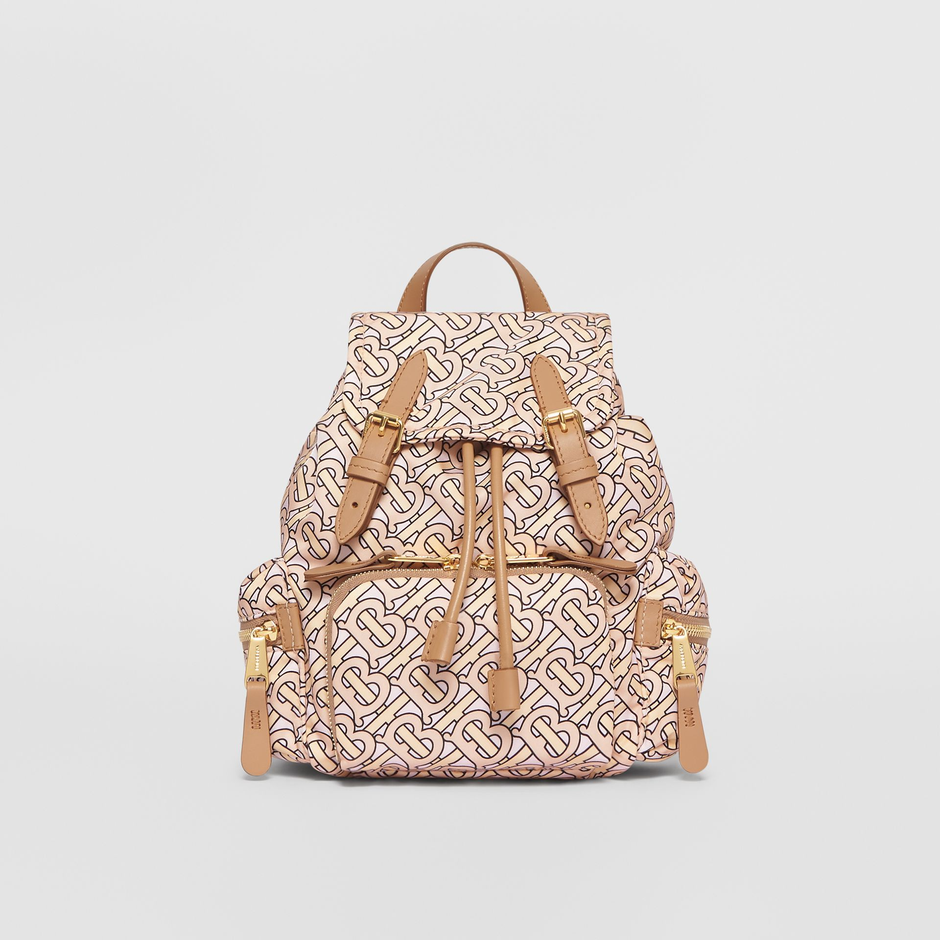 The Small Rucksack in Monogram Print Nylon in Blush - Women | Burberry Australia - gallery image 0