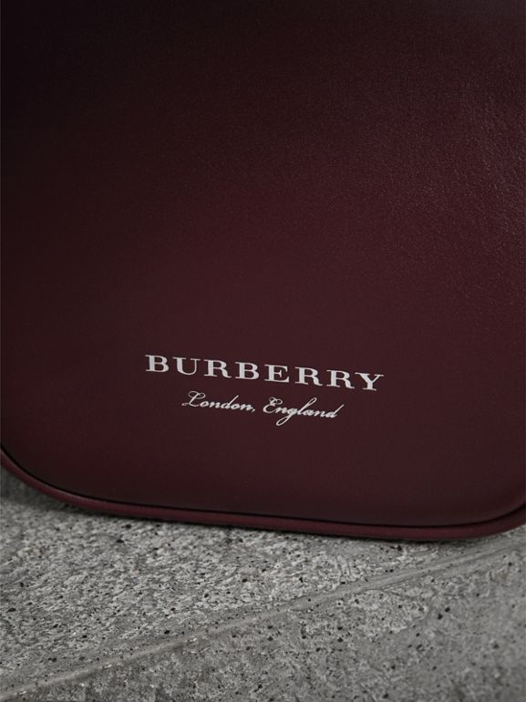 Mini Two-tone Leather Frame Bag in Burgundy - Women | Burberry United Kingdom - cell image 1
