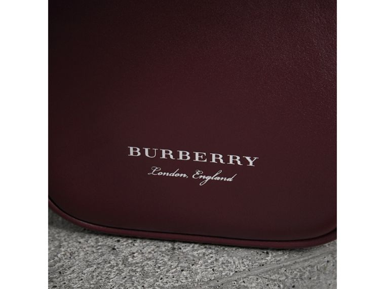 Mini Two-tone Leather Frame Bag in Burgundy - Women | Burberry - cell image 1
