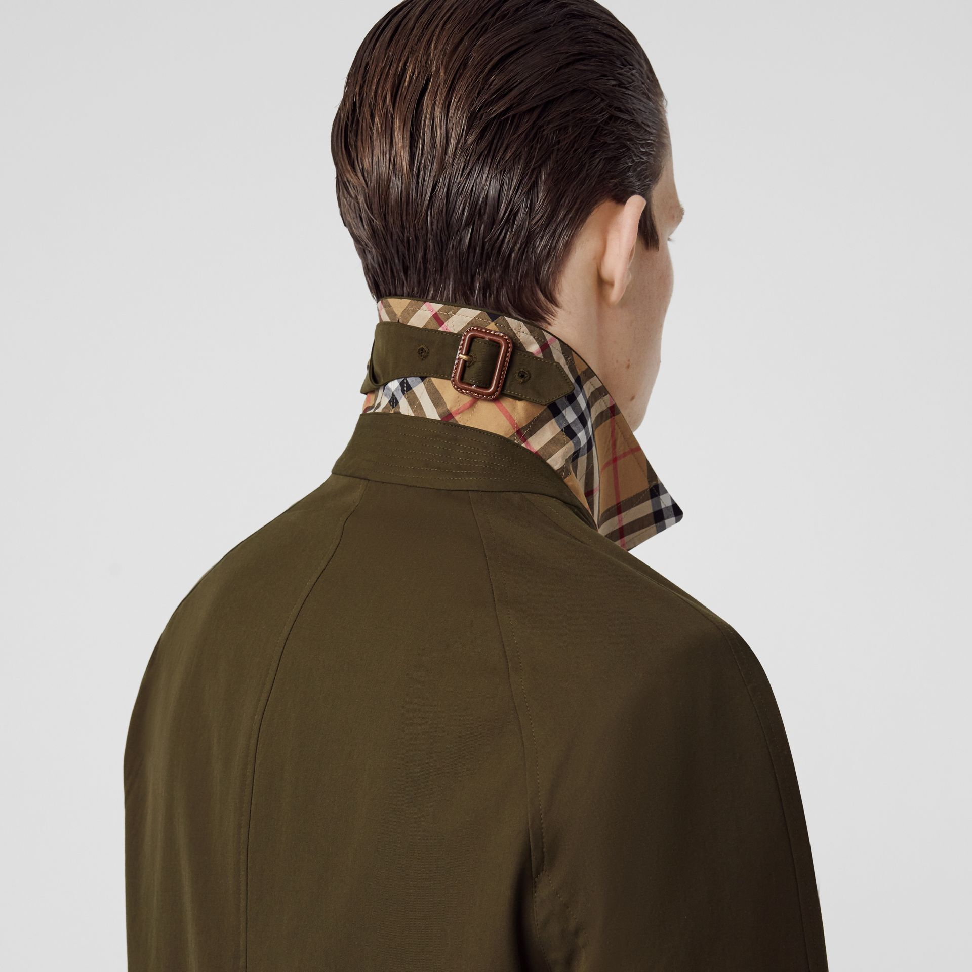 The Camden Car Coat in Dark Military Khaki - Men | Burberry Australia - gallery image 5