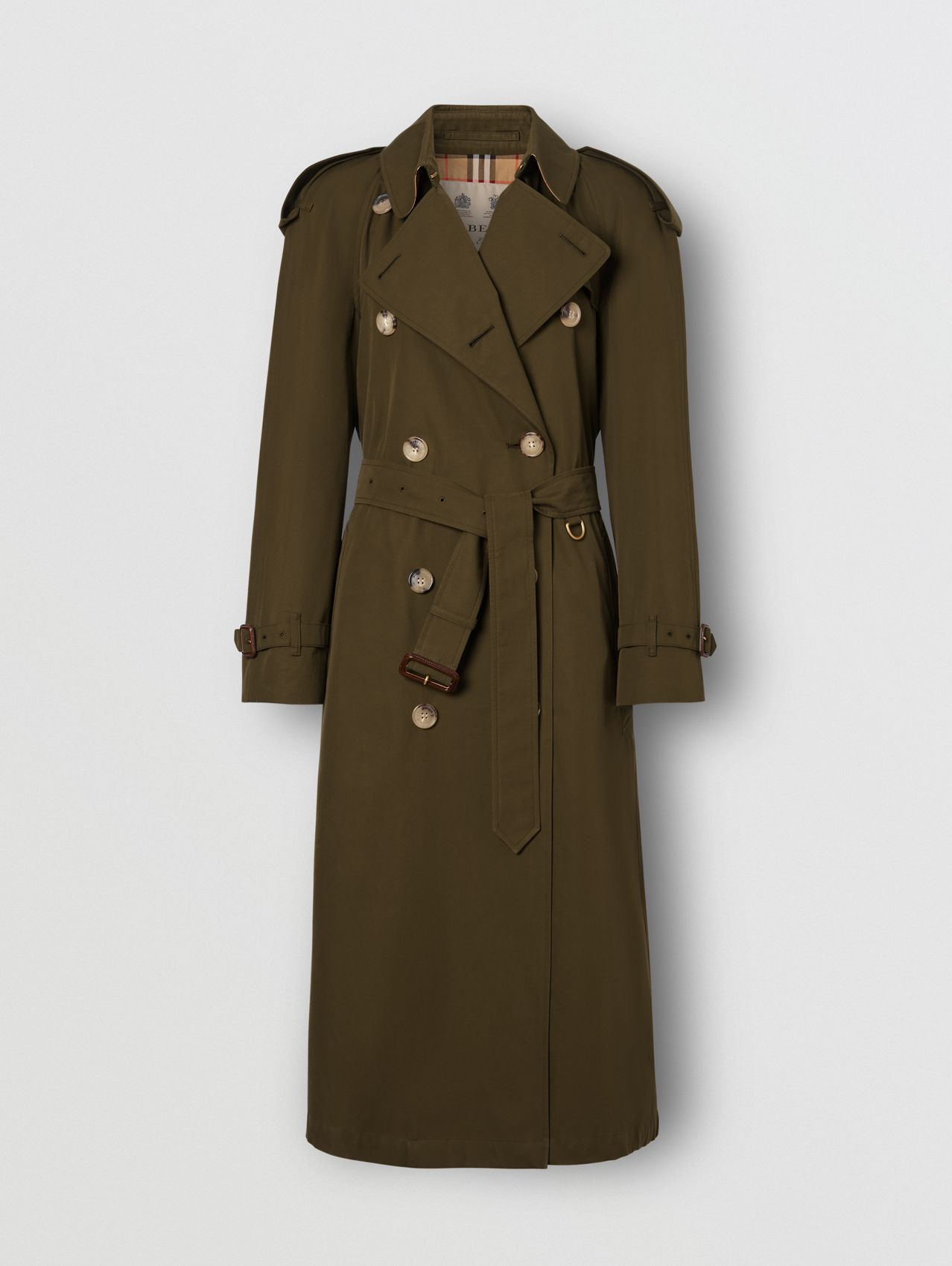 The Long Westminster Heritage Trench Coat in Dark Military Khaki
