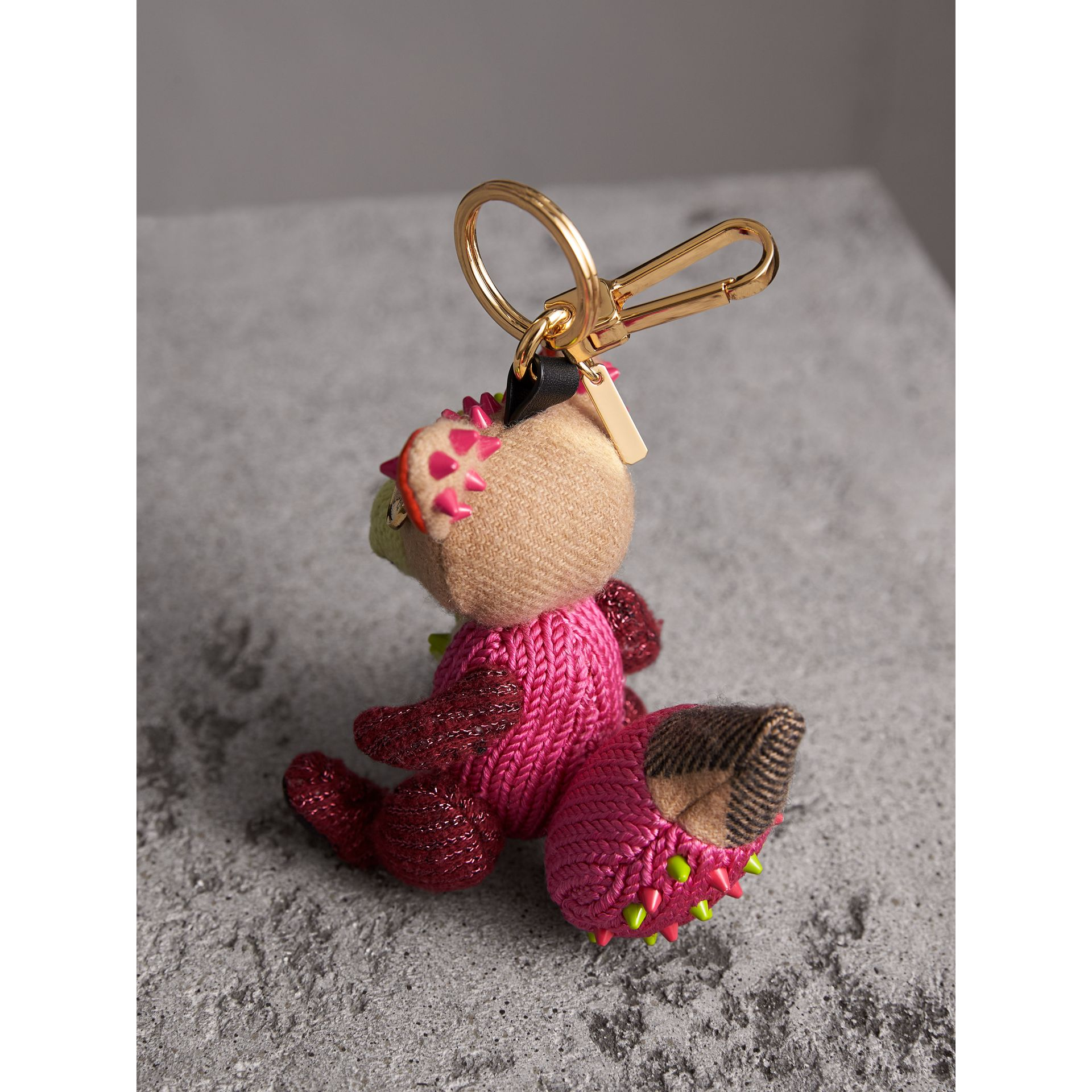 Dave The Fox Cashmere Charm in Pink | Burberry - gallery image 3