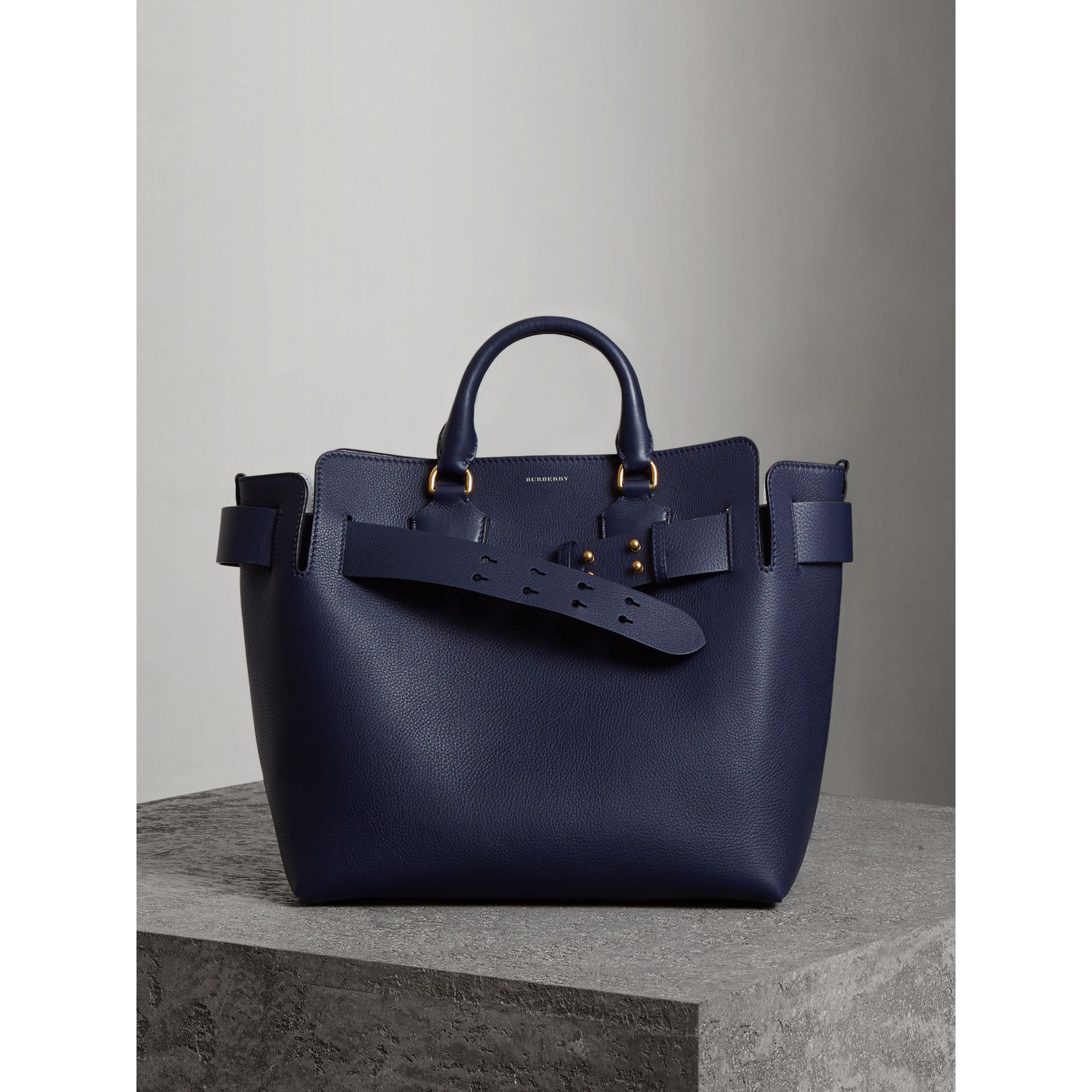 The Medium Leather Belt Bag in Regency Blue - Women | Burberry Canada - gallery image 6