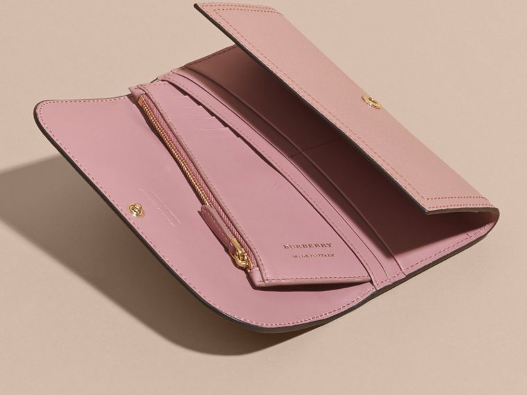 Leather Continental Wallet with Removable Coin Case Dusty Pink - cell image 4