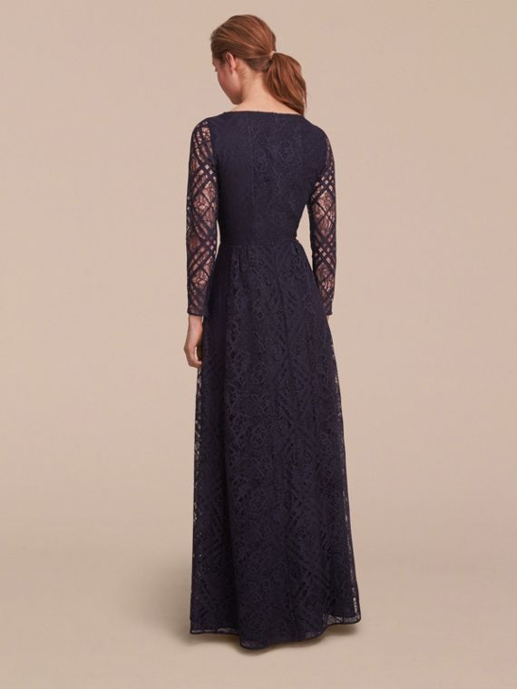 Check Lace Floor-length Dress - cell image 2