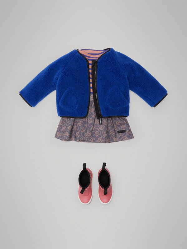 Faux Shearling Jacket in Cobalt Blue - Children | Burberry - cell image 2