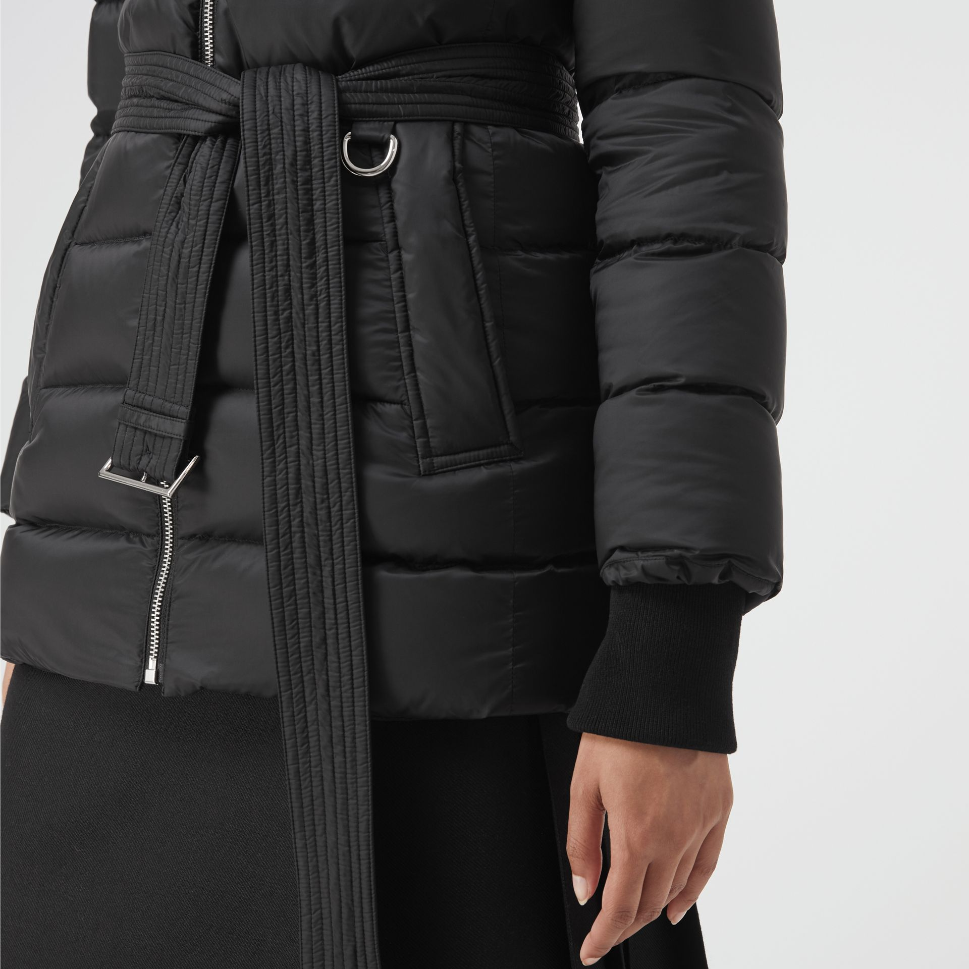 Down-filled Hooded Puffer Coat in Black - Women | Burberry Singapore - gallery image 1