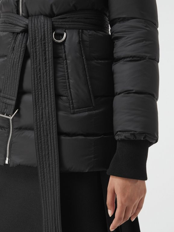 Detachable Hood Down-filled Puffer Coat in Black - Women | Burberry - cell image 1