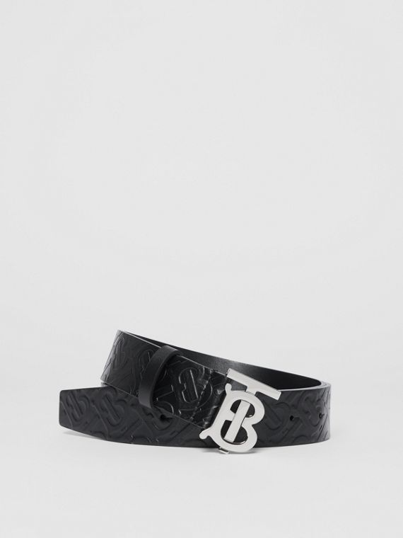 Monogram Motif Monogram Leather Belt in Black