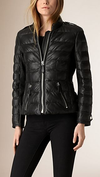 Down-filled Lambskin Puffer Jacket