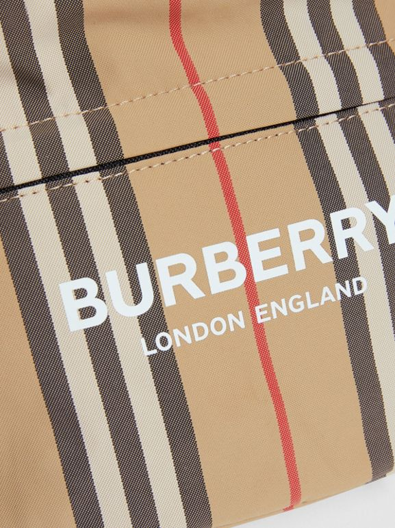 Vintage Check and Icon Stripe Convertible Bum Bag in Archive Beige - Children | Burberry - cell image 1