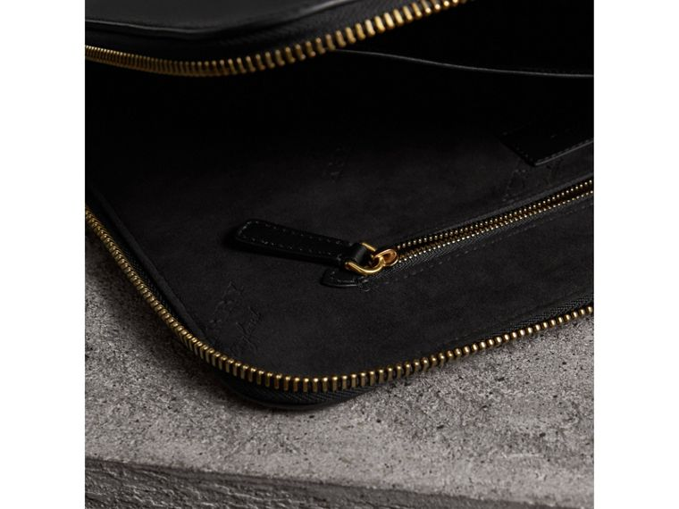 Embossed Leather Document Case in Black - Men | Burberry - cell image 4