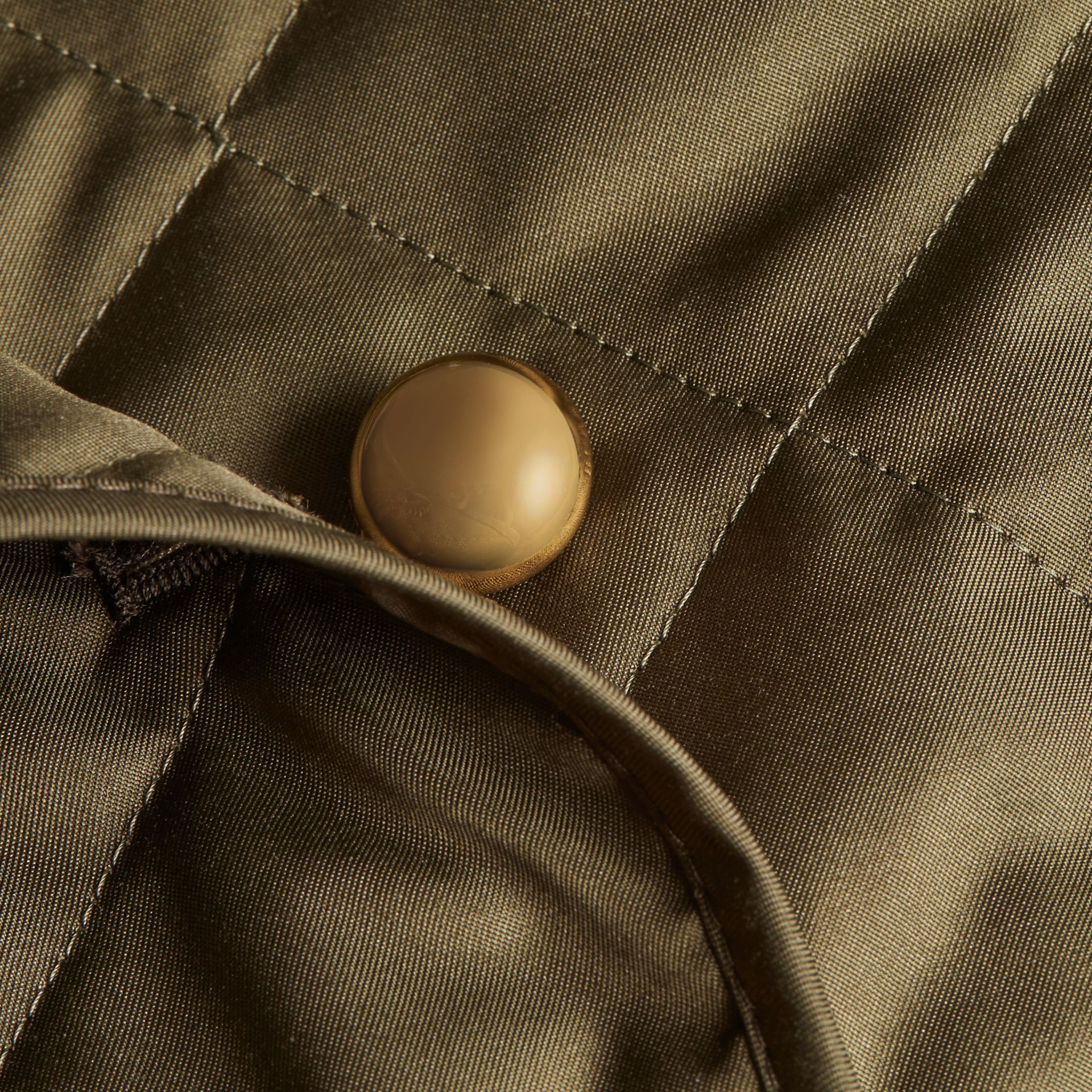 Double-breasted Quilted Military Jacket in Dark Olive - Women | Burberry - gallery image 2
