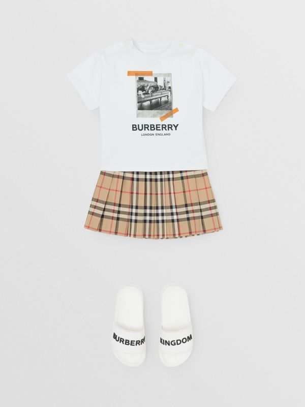 Vintage Polaroid Print Cotton T-shirt in White - Children | Burberry United Kingdom - cell image 2