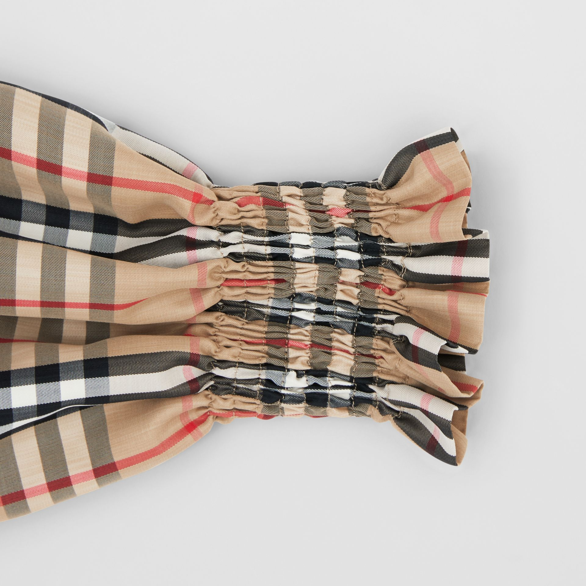 Vintage Check Puff Sleeves in Archive Beige - Women | Burberry Australia - gallery image 5