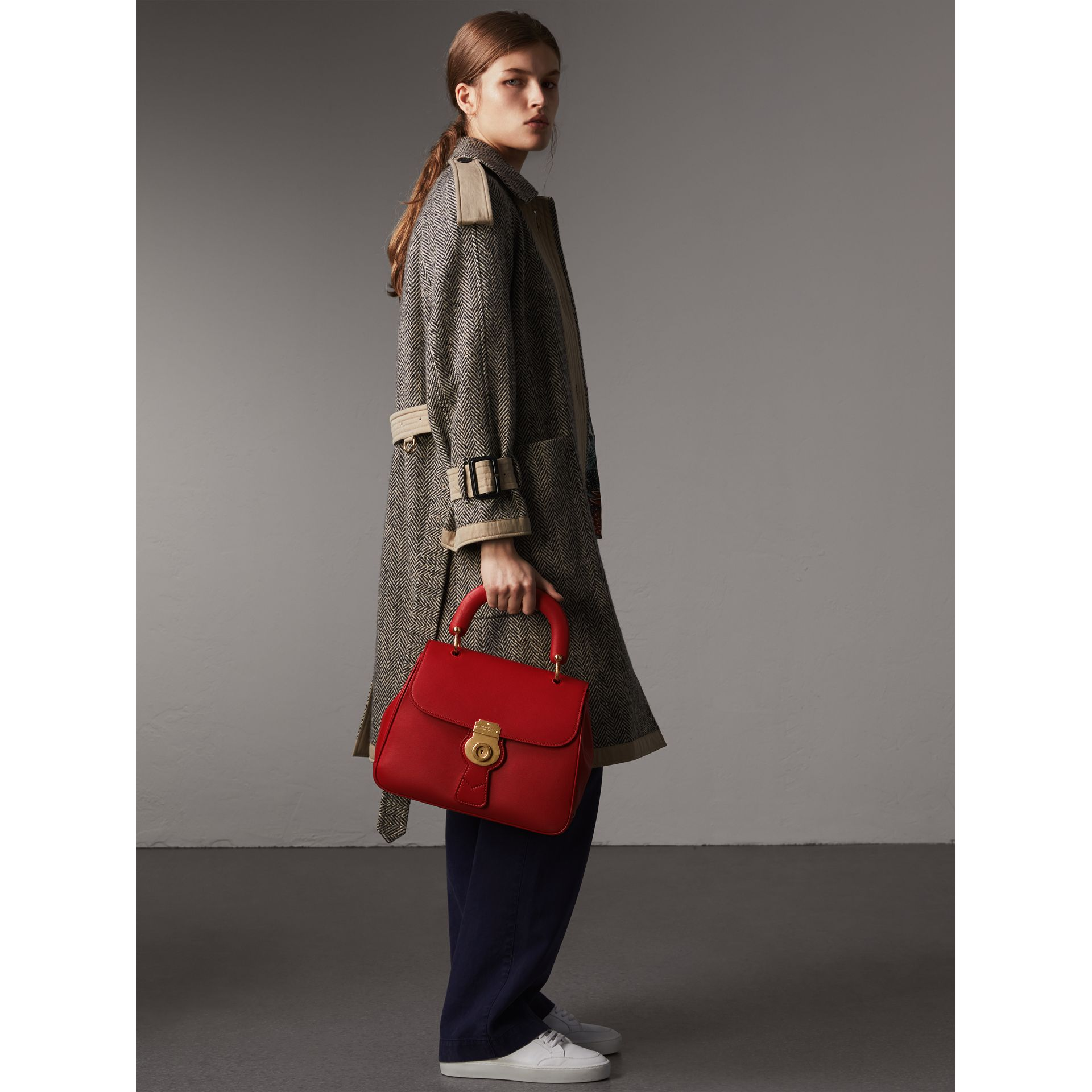 The Medium DK88 Top Handle Bag in Coral Red - Women | Burberry - gallery image 2