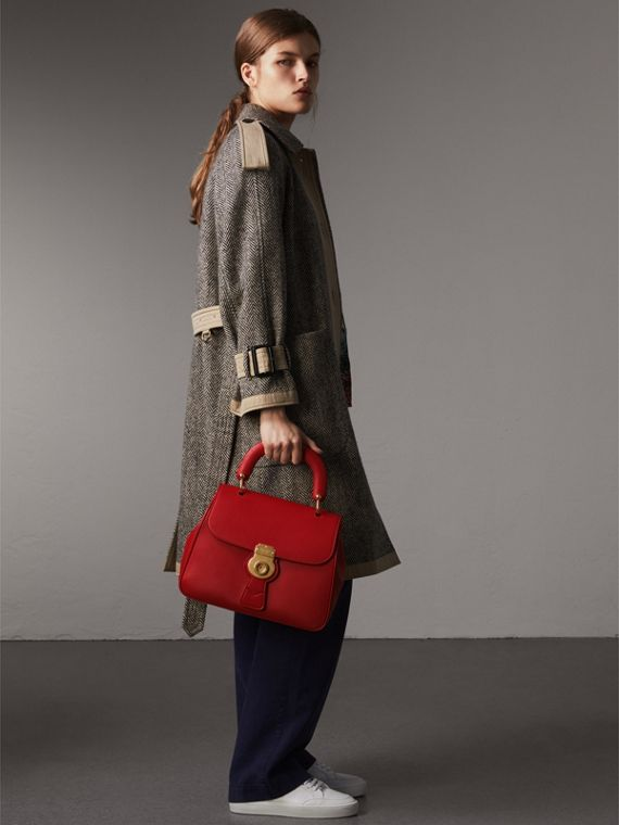 The Medium DK88 Top Handle Bag in Coral Red - Women | Burberry - cell image 2