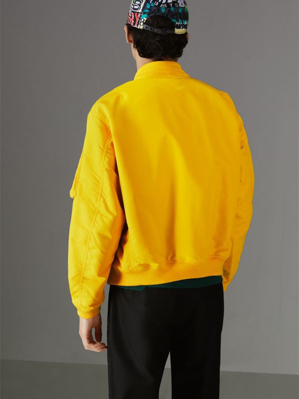 Nylon Bomber Jacket in Bright Yellow - Men | Burberry United Kingdom - cell image 2