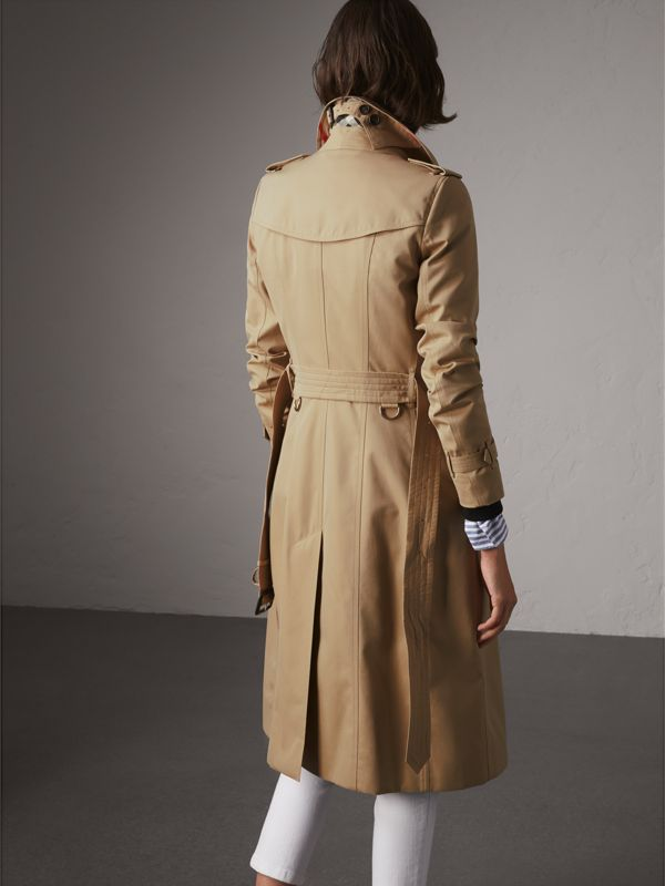 The Chelsea – Extra-long Trench Coat in Honey - Women | Burberry United States - cell image 2