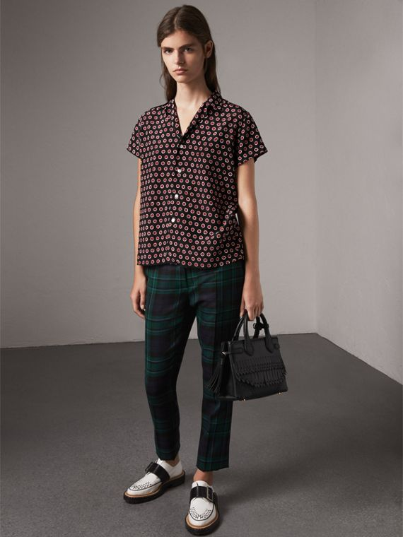 The Small Banner with Brogue Detail in Black - Women | Burberry United States - cell image 3