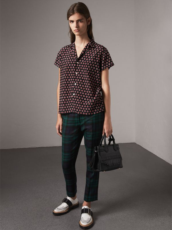 The Small Banner with Brogue Detail in Black - Women | Burberry - cell image 3