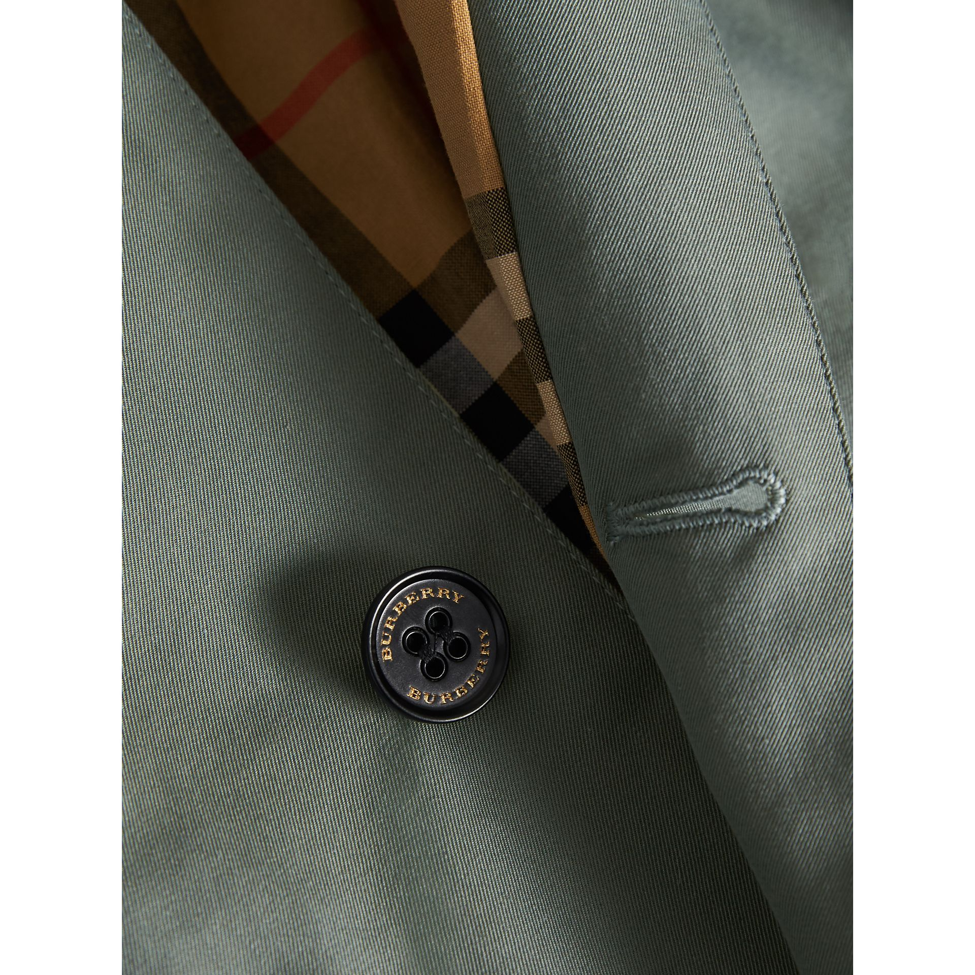 Tropical Gabardine Trench Coat in Dusty Blue - Boy | Burberry - gallery image 2