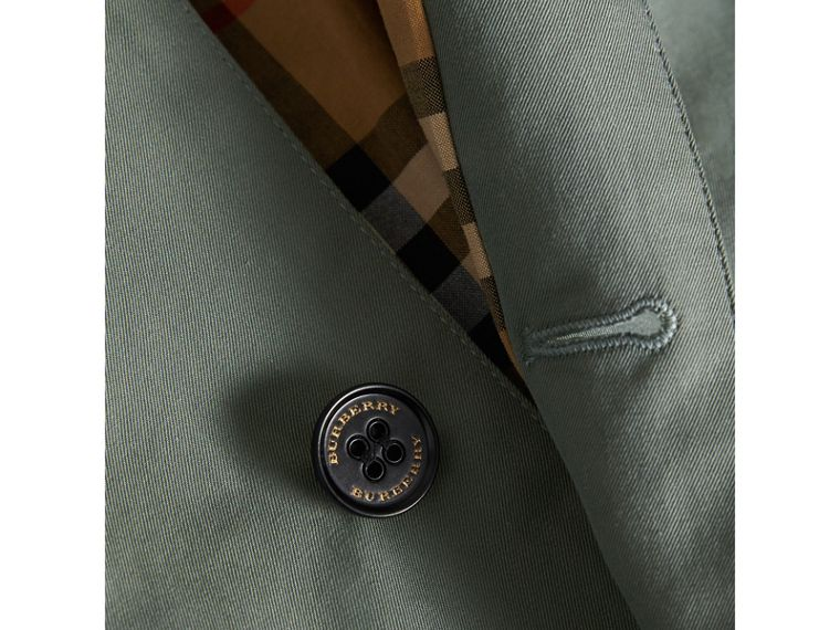 Tropical Gabardine Trench Coat in Dusty Blue - Boy | Burberry Hong Kong - cell image 1