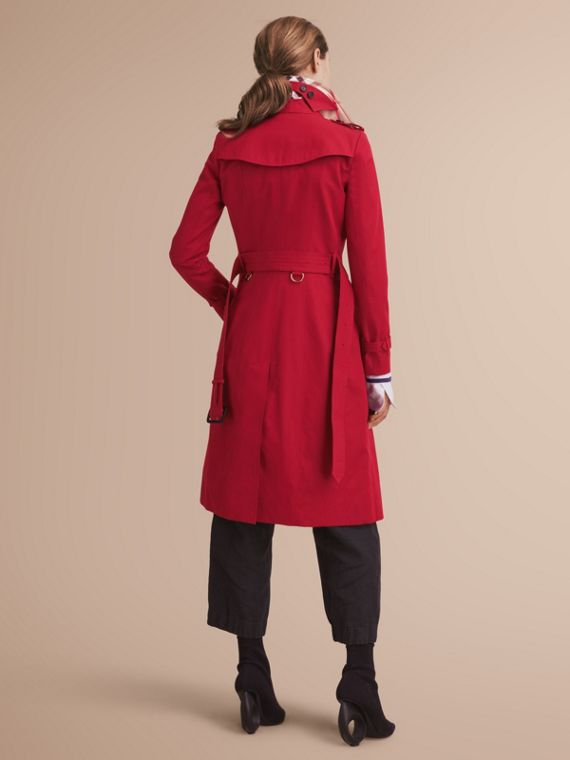 The Chelsea - Trench coat Heritage extra lungo (Rosso Parata) - Donna | Burberry - cell image 2