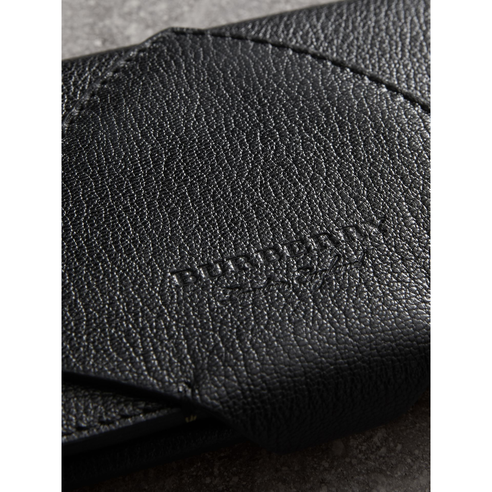 Equestrian Shield Two-tone Leather Continental Wallet in Black - Women | Burberry Australia - gallery image 1