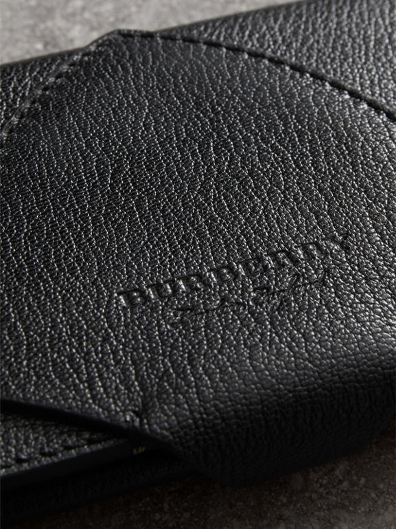 Equestrian Shield Two-tone Leather Continental Wallet in Black - Women | Burberry Australia - cell image 1