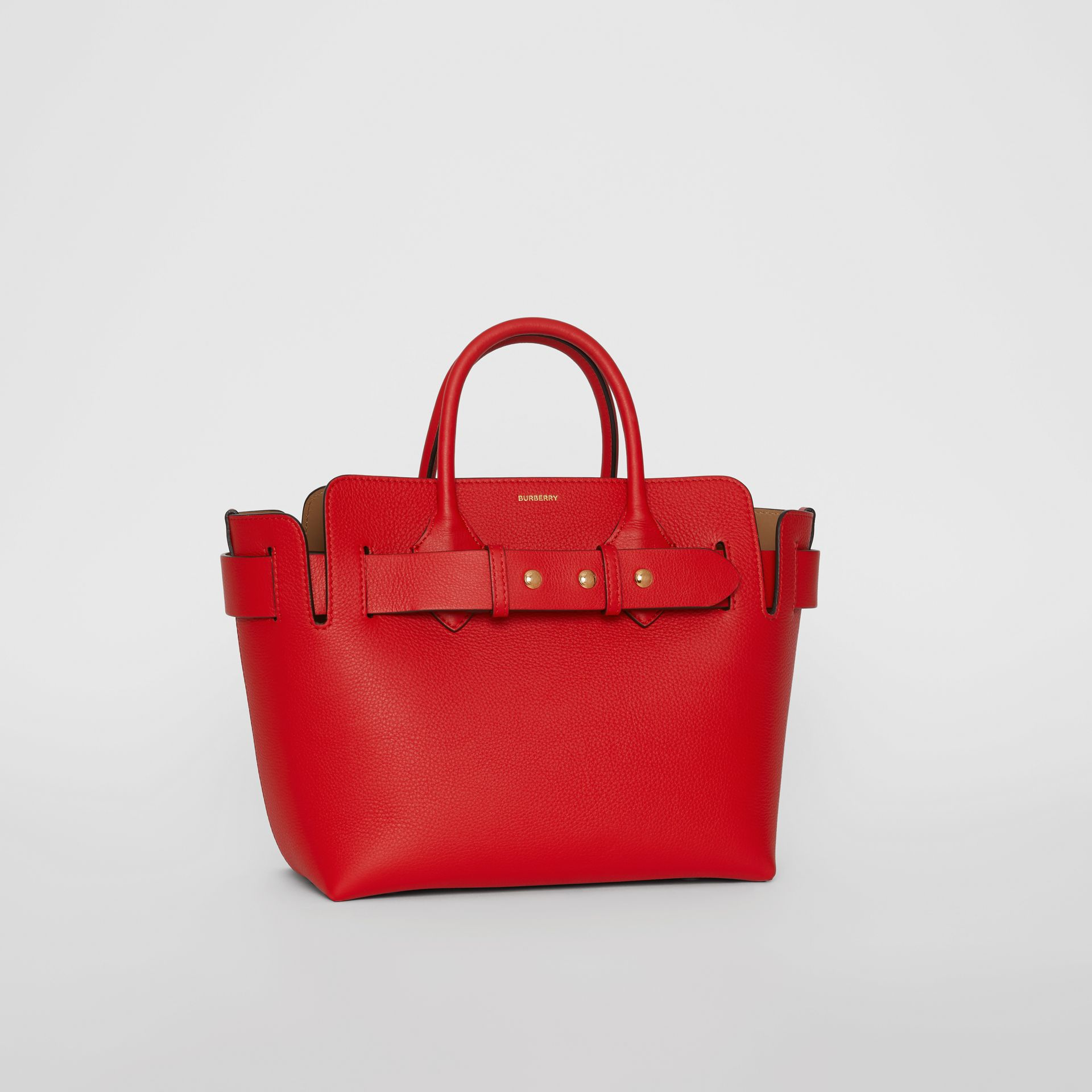 The Small Leather Triple Stud Belt Bag in Bright Military Red - Women | Burberry United States - gallery image 4