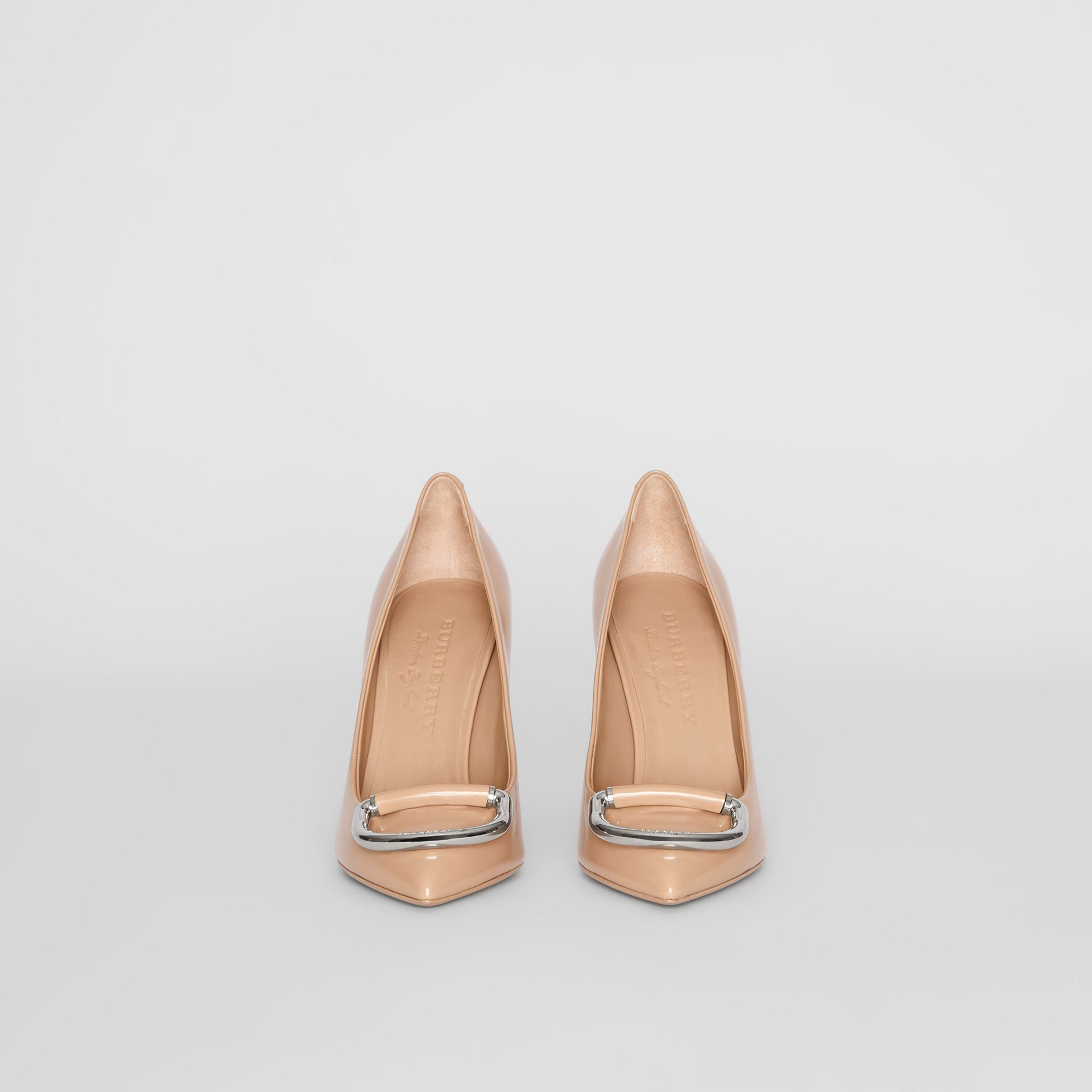 The Leather D-ring Stiletto in Nude Blush - Women | Burberry Canada - gallery image 3