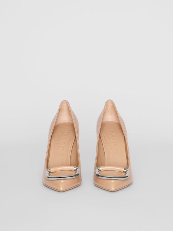 The Leather D-ring Stiletto in Nude Blush - Women | Burberry Canada - cell image 3