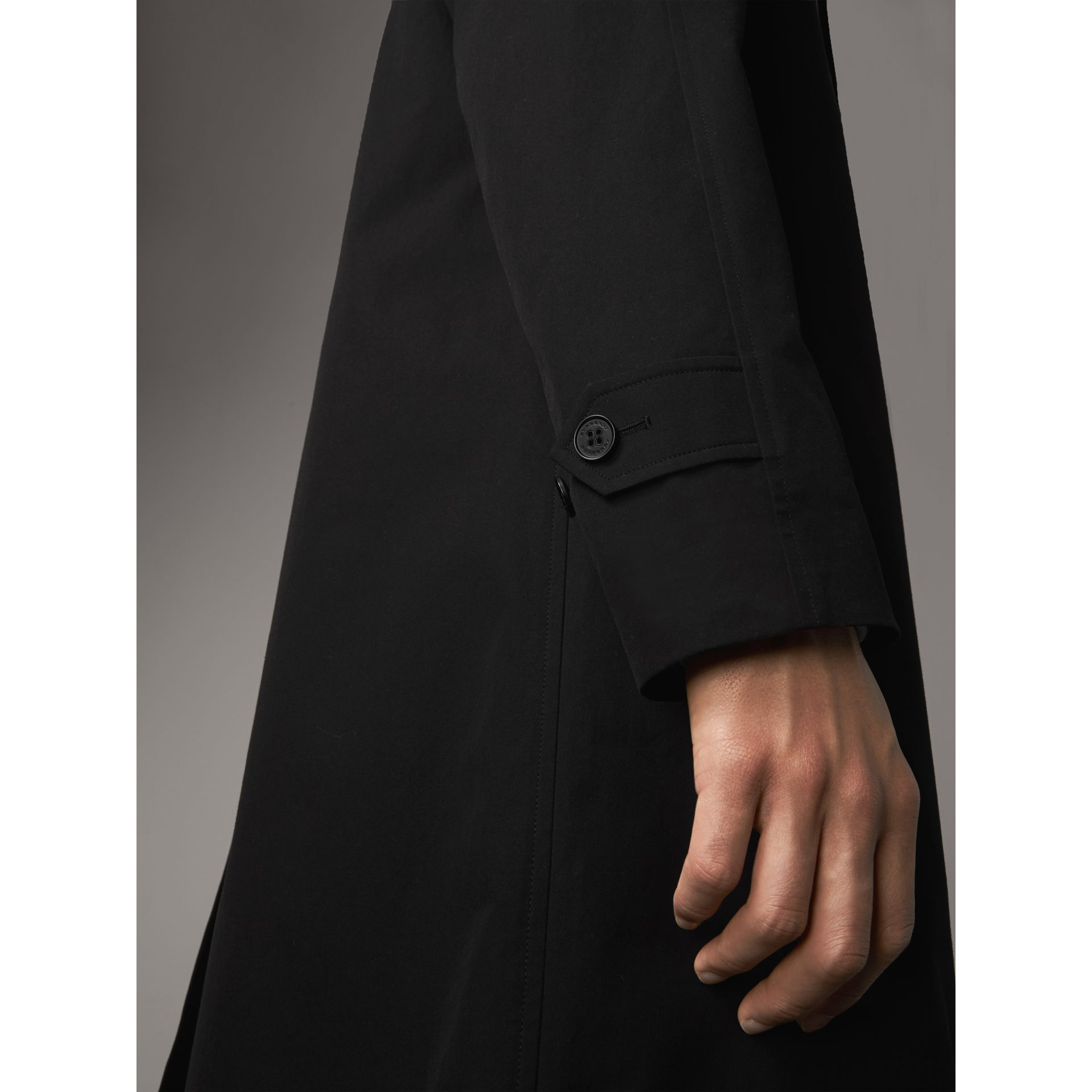 The Camden – Long Car Coat in Black - Men | Burberry Canada - gallery image 4