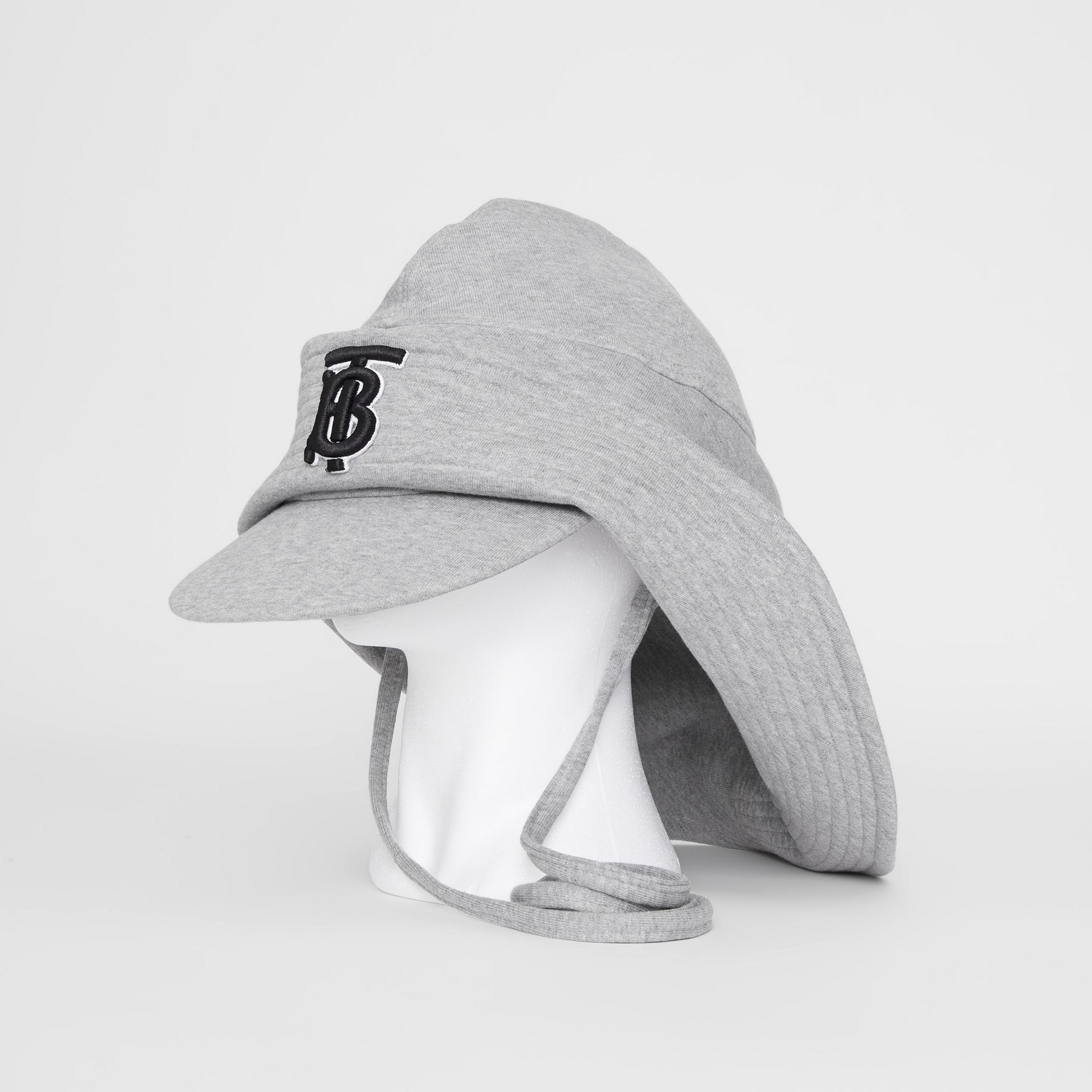 Monogram Motif Rain Hat in Light Grey Melange - Men | Burberry - gallery image 0