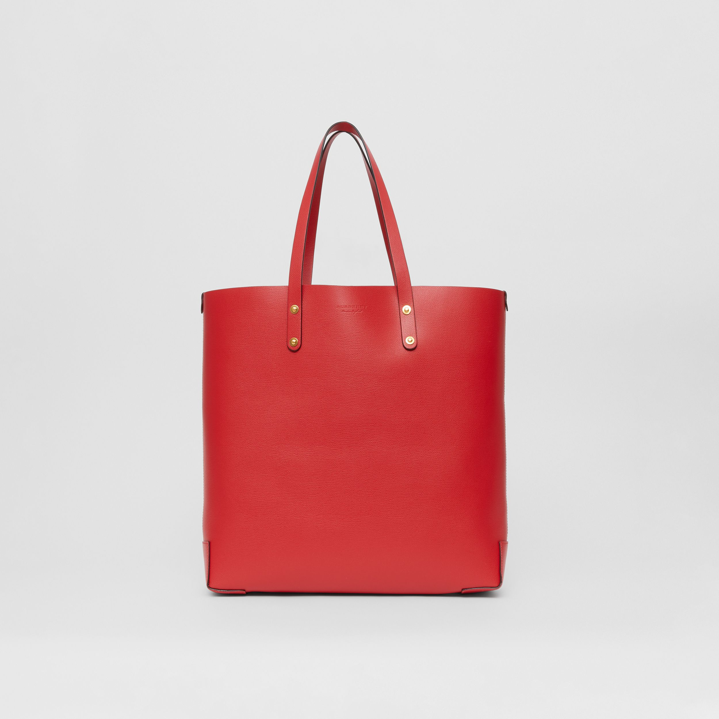 Large Grainy Leather Tote Bag in Rust Red - Women | Burberry - 1