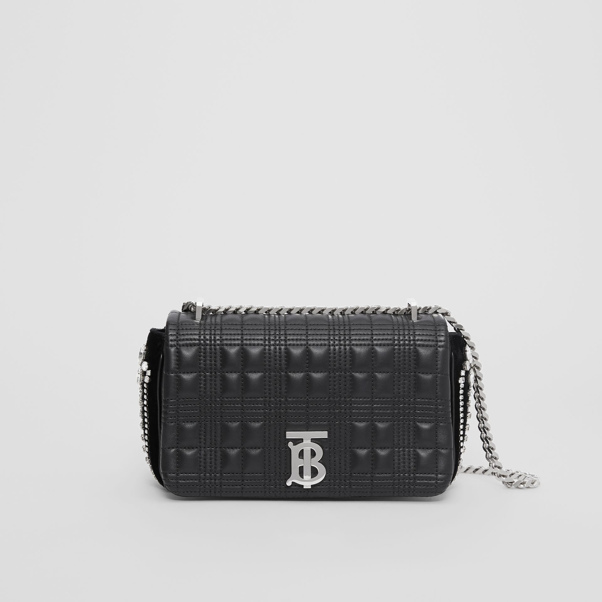 Small Crystal Detail Quilted Lambskin Lola Bag in Black - Women | Burberry - gallery image 0