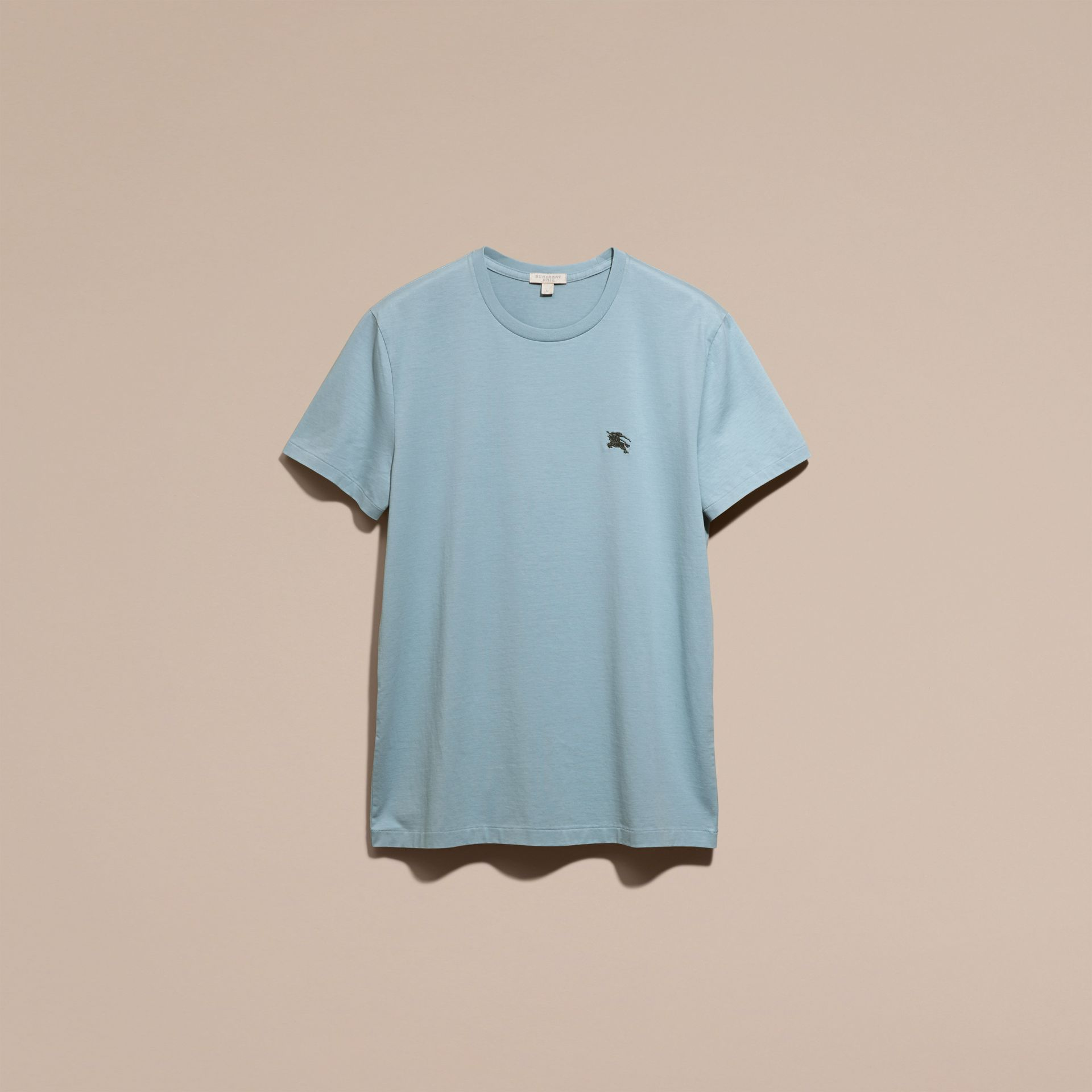 Pale blue Liquid-soft Cotton T-Shirt Pale Blue - gallery image 4
