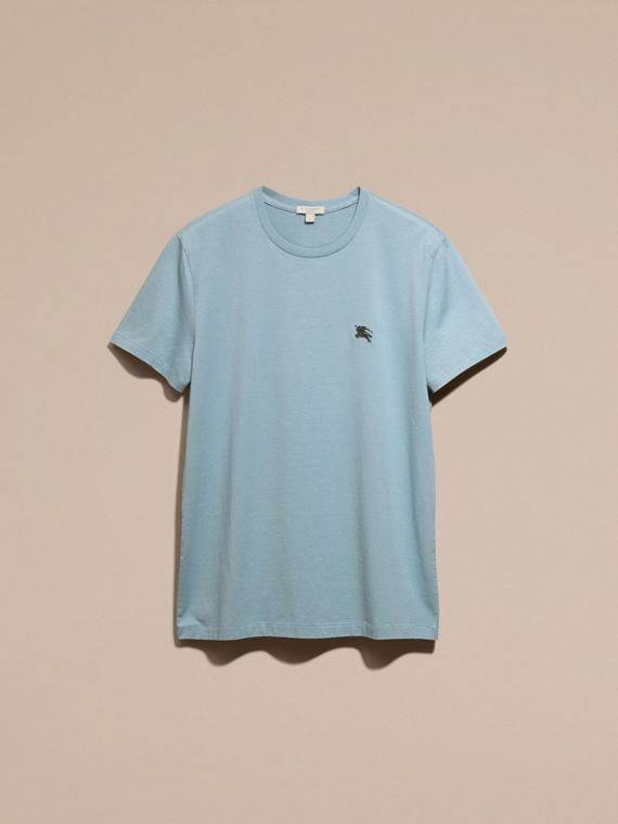 Pale blue Liquid-soft Cotton T-Shirt Pale Blue - cell image 3