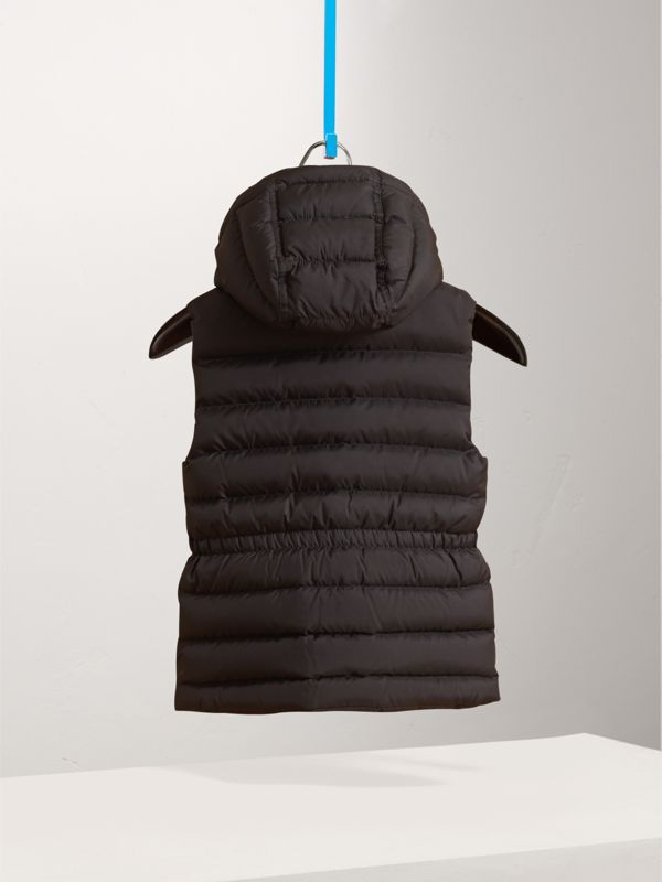 Detachable Hood Down-filled Gilet in Black - Girl | Burberry - cell image 2