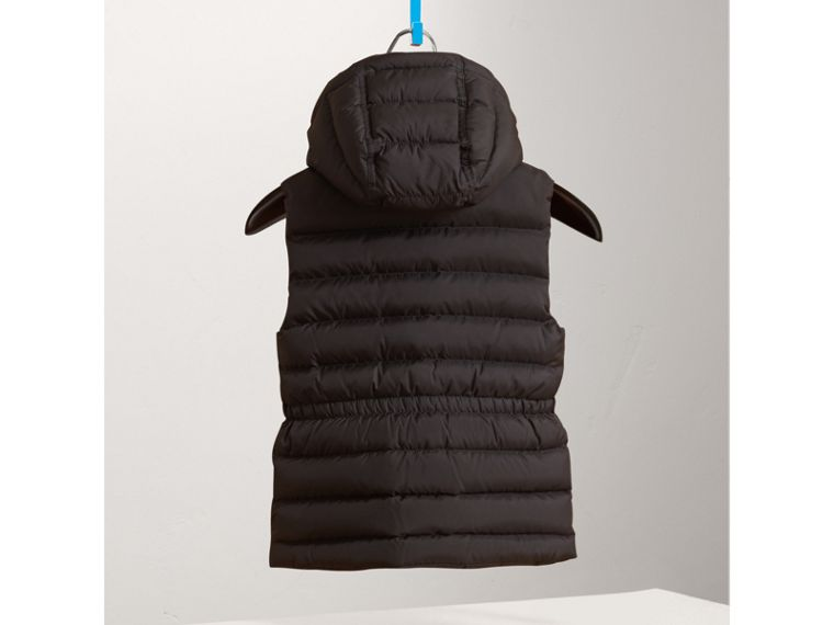 Detachable Hood Down-filled Gilet in Black - Girl | Burberry United Kingdom - cell image 2